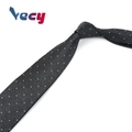 Hot Product Black Silk Dot Pattern Neck ties for Business