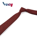Preferential Wine Red Plain Satin Fabric Necktie for Men