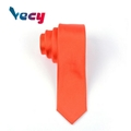 Preferential Orange Plain Satin Fabric Necktie for Men