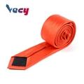 Preferential Orange Plain Satin Fabric Necktie for Men