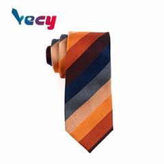 Hot Products Color Stripe Pattern Print Cotton Necktie for Man