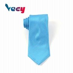 Fashion Blue Polyester Diagonal Pattern Necktie for Man