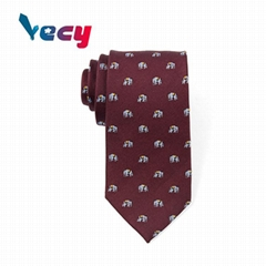 2018 fashion Brown Animal Pattern Silk Neckties for Man