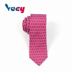 2018 Hot Red Silk Regular Pattern Neck Ties for Man