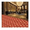 Anti slip Custom Luxury Hotel Corridor Printed Floor Carpet