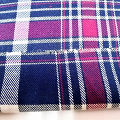 Uniform Shirt Material Yarn Dyed Plaid Flannel 100% Cotton Check Fabric