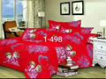 hot sell product fashion printed 4pcs bedding set