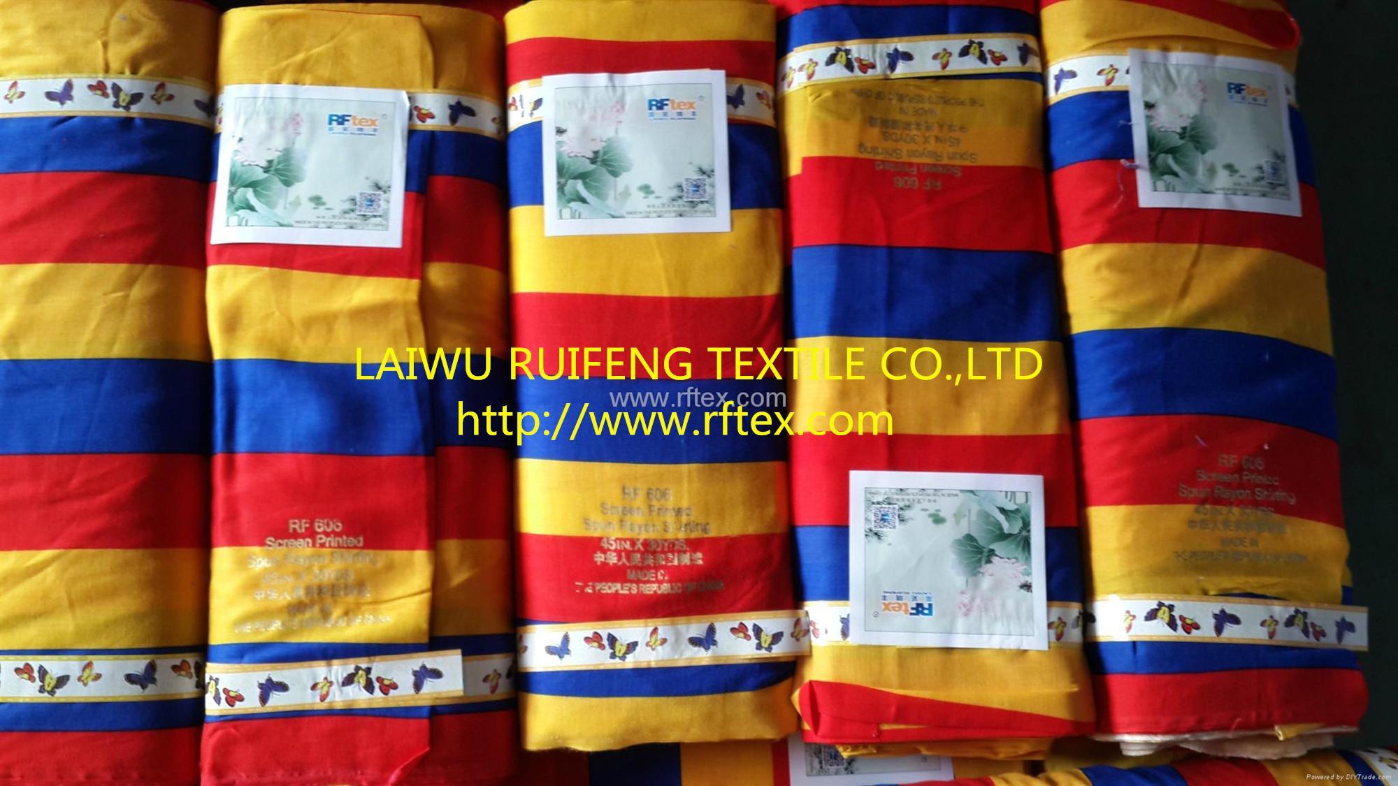 100% spun rayon printed fabric 2