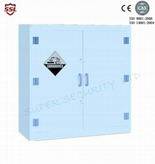 Hydrochloric acid Lab Solvent Plastic Double Door Chemical Corrosive Cabinet