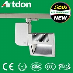 Matt black 45w IP20 Artdon Led Track Light for Shopping