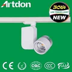 COB LED track light 30W with CE and ROHS or SAA certificate