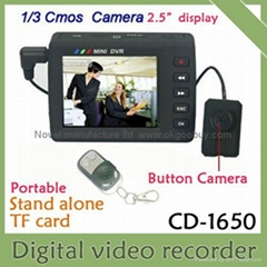 shenzhen cheap portable CCTV camera DVR kit CMOS camera with mini DV