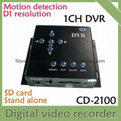 1CH SD card mini DVR, mobile DVR, motion detect, D1, 30f/s, Support max 32GB