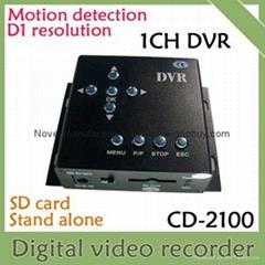 1CH SD card mini DVR, mobile DVR, motion detect, D1, 30f/s, Support max 32GB