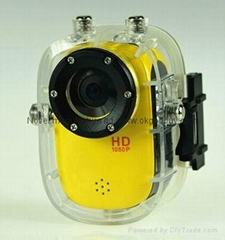 Underwater 30meter liquid image Sport action Camera,Full 1080P HD extreme cam