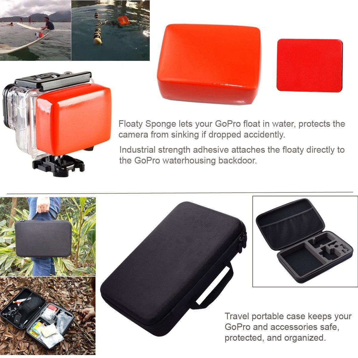 50 in 1 china gopro accessories set kit, for gopro 6/5/4 ,SJ4000,xiaoyi camera 4