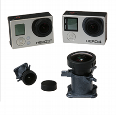 170 degree gopro replacement lens for hero 4,3+