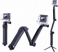gopro 3-way mount Grip, Arm, Tripod monopod for gopro hero cameras