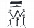 gopro 3-way mount Grip, Arm, Tripod monopod for gopro hero cameras