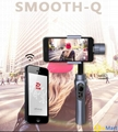 china factory 3-axis gimbal  handheld work for gopro and iphone and samsung