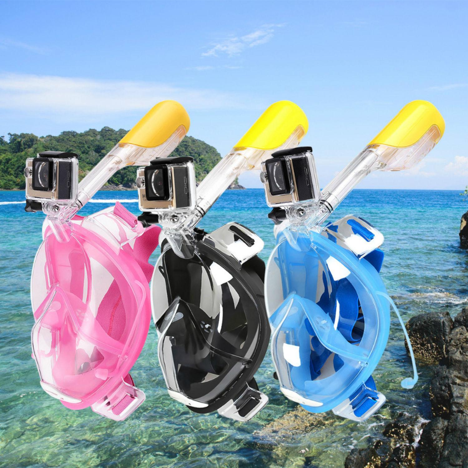 full face snorkel mask for gopro diving underwater camera 1