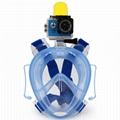 full face snorkel mask for gopro diving underwater camera 5