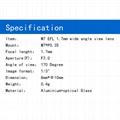 china m7 lens supplier 1.7mm m7 170degree wide angle lense novel goobuy