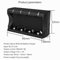USB cr123a battery charger 8 Slot port smart with type c charging 8 cells