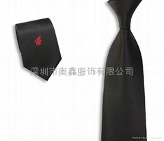 滌綸logo提花領帶定做