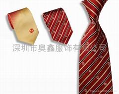 南韓絲提花logo領帶定製