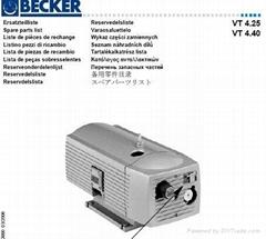 德國貝克真空泵VT4.40