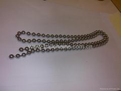 Metal beaded blind chain