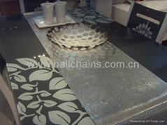 Aluminum metal mesh table runner