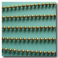 Antique brass ball chain