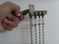 Curved ball chain curtain