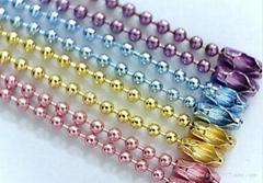 Colored ball chain bead chain