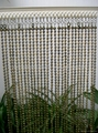 Antique brass faceted ball chain curtain