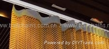 Metal fabric curtain