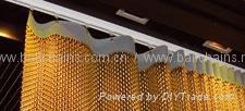 Metal fabric curtain