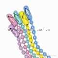 Color ball chain,Oil-painting color ball chain,Powder coated color ball chain