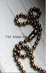 Antique brass bead chain