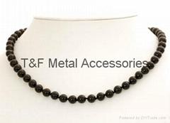 Black color bead chain