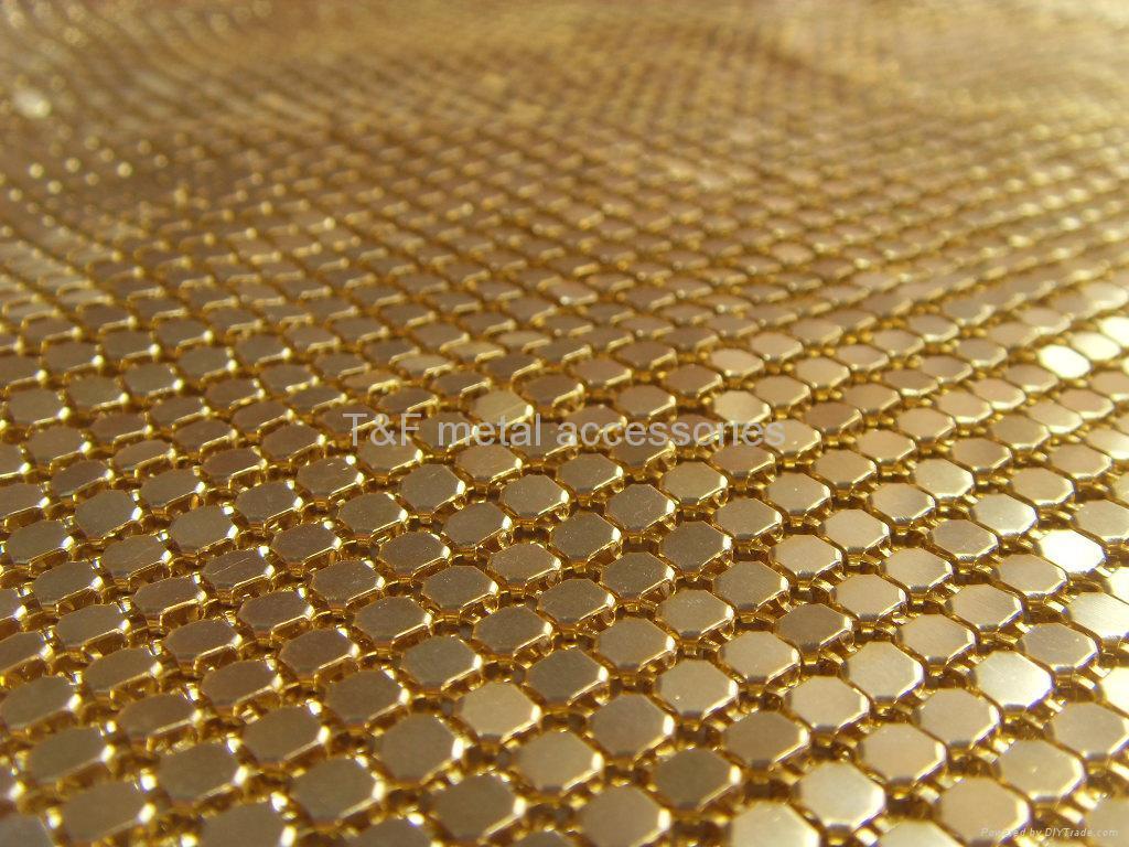 metallic mesh china manufacturer bead chain curtain metallic