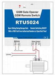 GSM Gate, Barrier, Shutter, Garage Door and Door opener