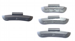 zinc clip-on wheel weights for steel rims