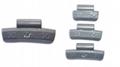 Zinc clip on wheel weight for aluminium rims