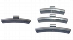 Zinc clip-on wheel weights for alloy rims