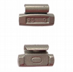 Fe clip-on wheel weights for alloy rims
