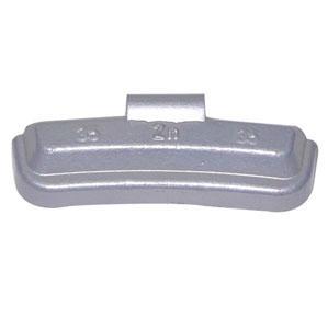 Zink clip on wheel weight