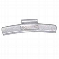 Fe clip-on wheel weights for steel rims